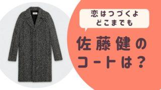 恋はつづくよどこまでも佐藤健のコートは?