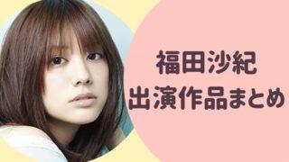 福田沙紀 ドラマ出演作品まとめ!